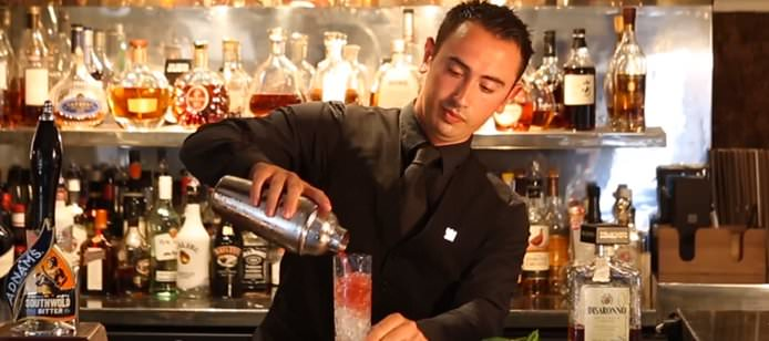 Nicolai Portelli makes Le Talbooth's famous blackberry marzipan cocktail