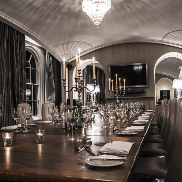 Venues available for private dining and meetings, at Milsoms in Dedham