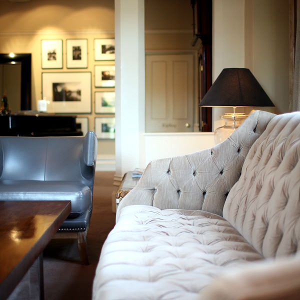 Kick back and belax in the lounge at Maison Talbooth