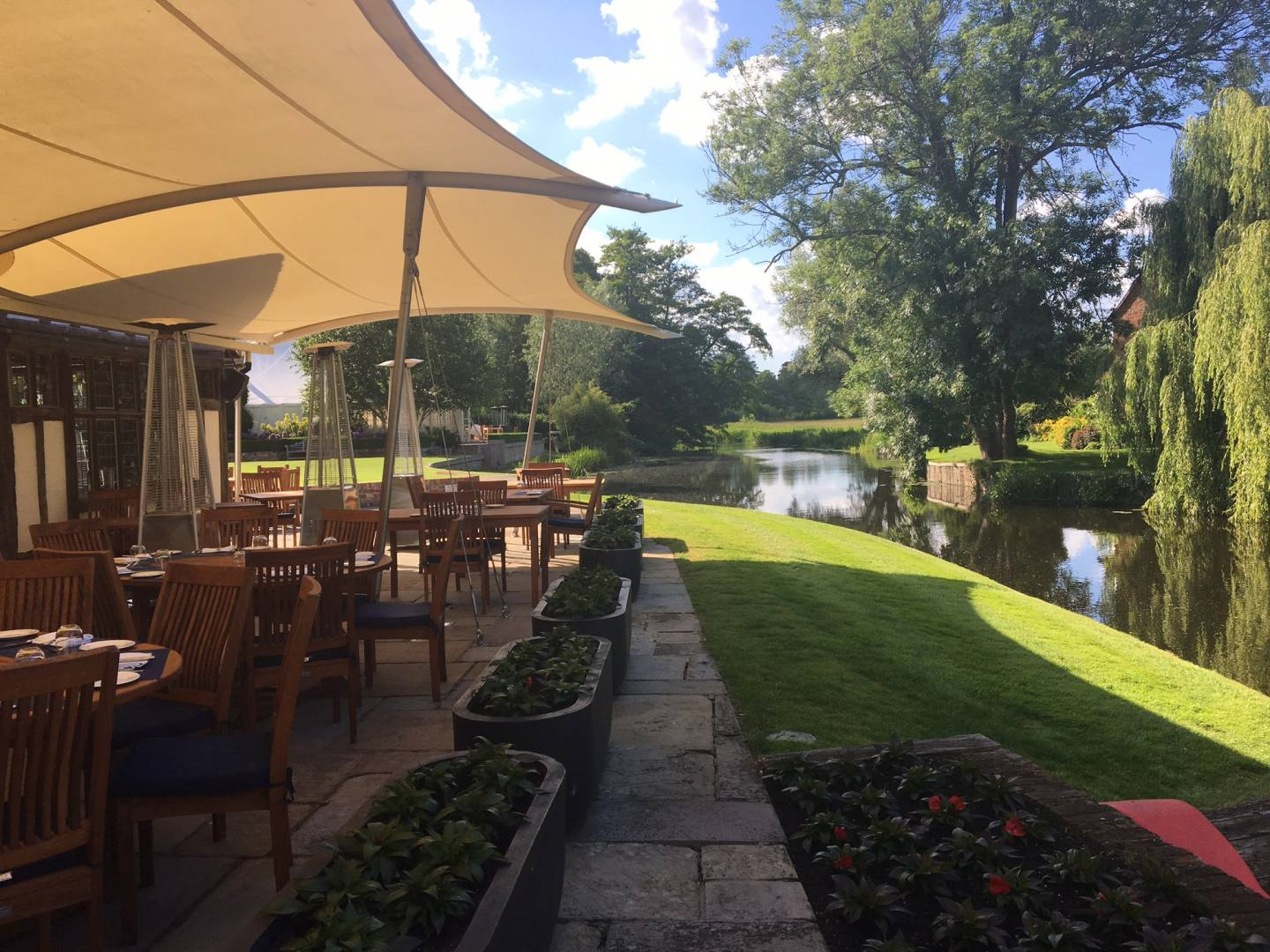 Summer Dining at Le Talbooth in Dedham
